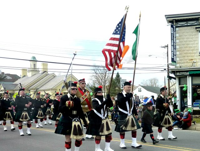 The Pipes and Drums of the Atlantic Watch - 2013 Rumson St. Patrick's Day Parade