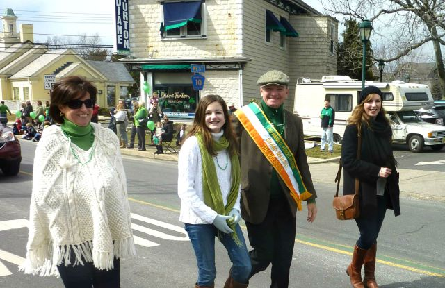 Tim McLoone, Grand Marshall, Marching in the 2013 Rumson St. Patrick's Day Parade