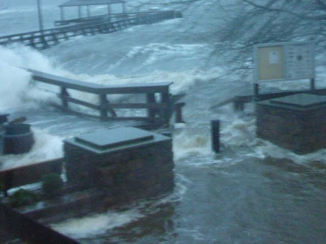 Fair Haven Dock During Super Storm Sandy