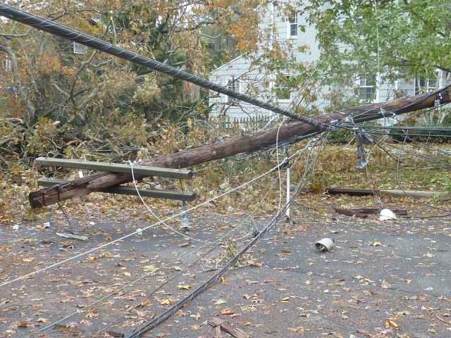 Wind Damage in Fair Haven from Super Storm Sandy