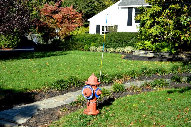 A Fair Haven fire hydrant all decked out for winter.