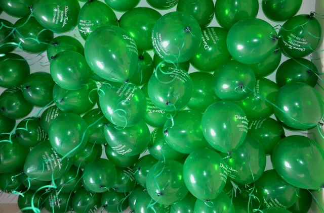 We passed out LOTS of green Diane Turton, Realtors baloons at the parade